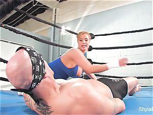 huge-chested blondie Shyla Stylez does some xxx training