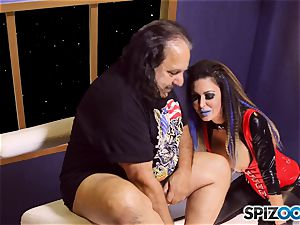 Jessica Jaymes is creamed by mature stud