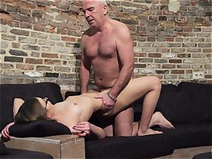 elder and young porno - grandfather romps nubile honeypot frigs