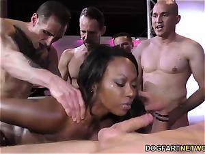ebony Skyler Nicole enjoys assfuck hook-up and gang-bang