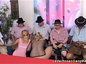 German mass ejaculation gangbang party