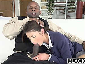 BLACKED Real Model with flawless melons likes black cock