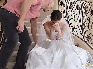 Jenni Lee tearing up her wedding cameraman