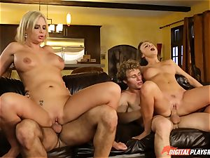 Family fucky-fucky lessons with stepmom and stepparent - Phoenix Marie and Alexis Adams