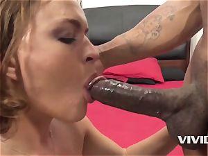 Krissy Lynn Gets A rock hard big black cock In Her coochie