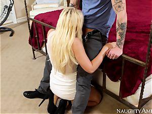 Kagney Linn Karter is instructing her junior bro to bang