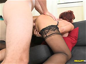 wondrous Vanessa getting her elderly vagina fucked