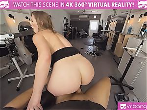 VRBangers.com Hairdresser Ella romped firm and facial