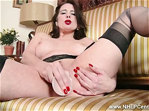 mummy unclothes off retro undergarments playthings clit in nylon heels