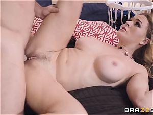 Krissy Lynn riding on a pulsating man-meat