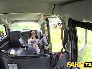 fake cab Olive flesh redhead in underwear