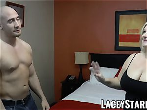LACEYSTARR - GILF entices immense dicked cub into ravaging