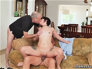 Tricky old tutor More 200 years of stiffy for this stunning black-haired!
