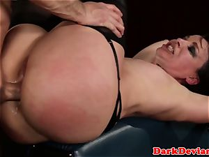 strapped bellowing skank analized and deepthroated