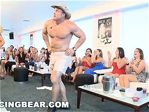 CFNM hotel party with fat fuckpole masculine Strippers