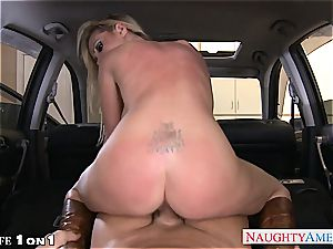 huge-boobed housewife Nikki Benz take man-meat in pov