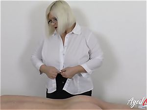 AgedLovE Lacey Starr boinking rock hard with Soldier