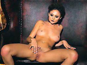 slim petite Ariana Marie mind-blowing rubber solo masturbation
