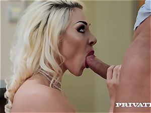 Private.com big-titted Victoria Summers smashes in tights
