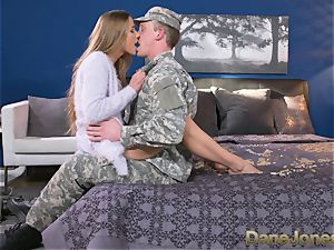 Dane Jones stiff sucking and romping messy Army wife
