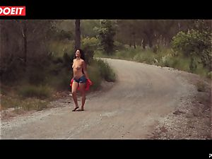 LETSDOEIT - wild brunette Caught Running in the woods