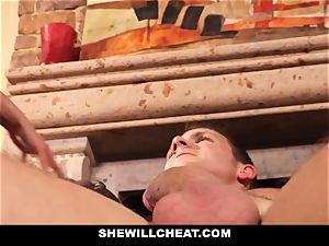 hotwife hubby watches Wifes twat Get destroyed