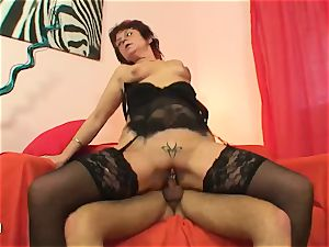 cougar with vag piercings fuckin' firm