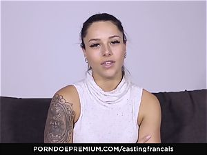 audition FRANCAIS - jaw-dropping first-timer first-ever porno bang