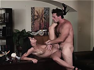 Selena Rose the office mega-bitch helps her boss unleash the cum