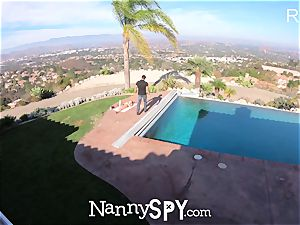 NannySpy nanny Kristen Scott caught wanking