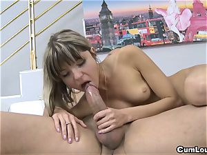 naughty Gina Gerson gets assfucked with his huge stiffy