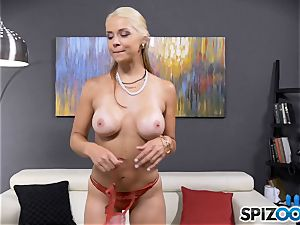 handsome super-naughty stunner Sarah Vandella has a culo ass-plug stuffed in her arse