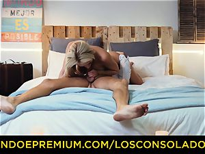 LOS CONSOLADORES - spectacular blondes harsh four-way
