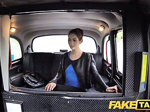 fake taxi Russian wooly puss all-natural titties