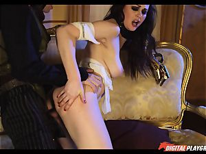 Tina kay has phat fountain on her jaw-dropping nice face from frankenstein