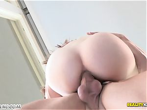 little student inhales her stepfather's hefty man-meat