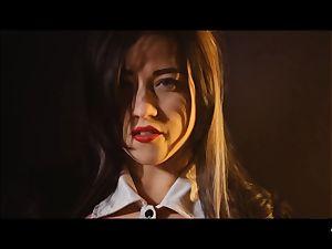 hardcore SHADES - kinky Tina Kay pulverized rock hard in threeway