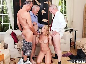 aged college g-string xxx Frannkie And The group Tag squad A Door To Door Saleswoman