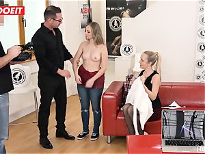 red-hot Czech diminutive nubile plows Her first-ever pornography audition
