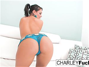 Charley pursue takes off off her beautiful apparel and spreads