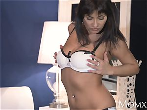 mummy spirited mummy creampied in lingerie and high-heeled slippers