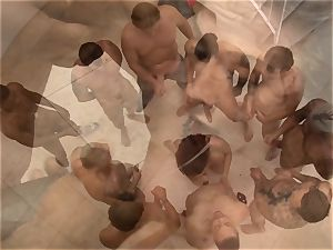 ten hard gigantic sausages and their jizm all for this nice female Chanel Preston