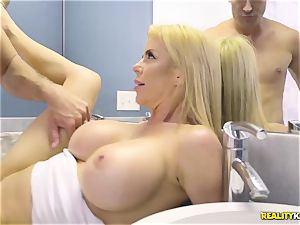 unbelievable hookup with crazy gigantic bra-stuffers mummy Alexis Fawx and her stepson