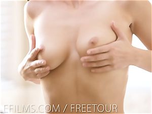 nubile Films - barely legal year aged Aidra Fox finishes off on her plaything
