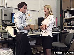 SheWillCheat - huge-titted milf chief pummels new employee