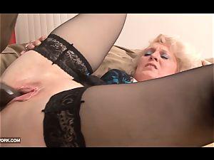 ebony pecker craving for grandma in hard-core interracial