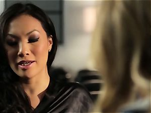 Asa Akira demonstrates Samantha Saint a new pasttime