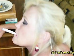 Ms Paris Rose is Santa's Smoking super hot Helper