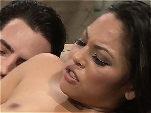 Adriana gets her latina fuckbox pumped