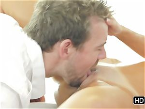 Dillion Harper getting a total on sexual rubdown